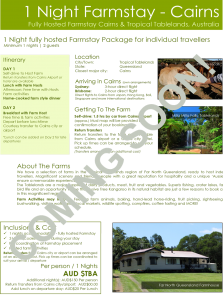 Cairns_1-Night-Farmstay-FIT